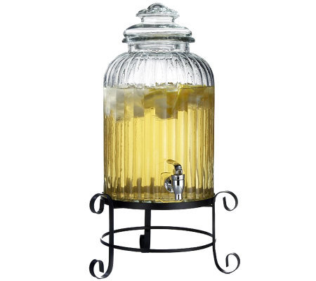 Springfield Glass Beverage Dispenser with Stand