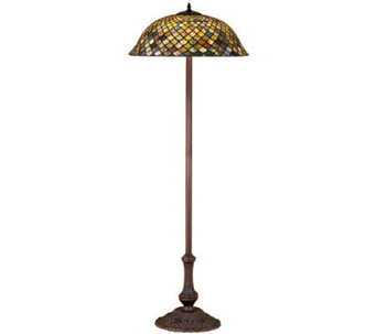 Tiffany Style Fishscale Floor Lamp - H112398