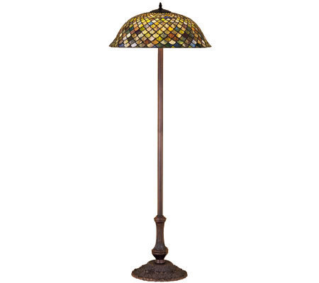 Tiffany Style Fishscale Floor Lamp