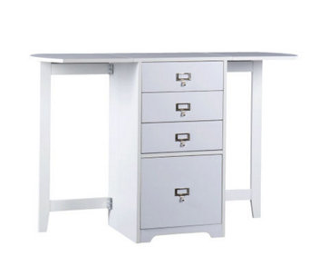 Windsor White Fold-Out Organizer & Craft Desk - H185498