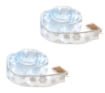 Kringle Express Set of 2 Ribbons with LED Lights and Timers - H193098