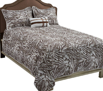 Dennis Basso Zebra Full/Queen 4-Piece Coverlet Set - H202398