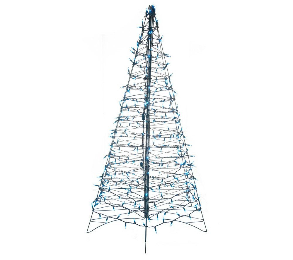 Pre-Lit 6' Fold Flat Outdoor Christmas Tree by Lori Greiner - Page ...