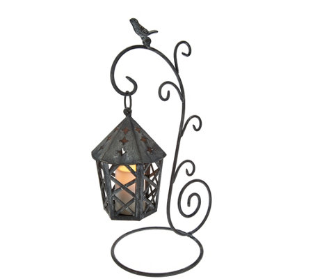 Indoor/Outdoor Hanging Lantern with Flameless Candle by Home Reflections