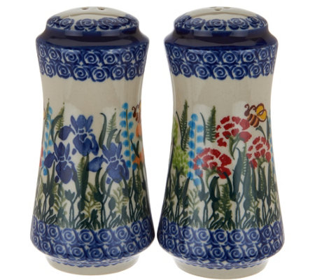 Lidia's Polish Pottery Stoneware Salt & Pepper