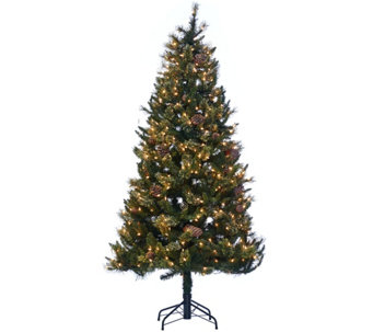 Hallmark 6.5' Fallen Snow Christmas Tree with Quick Set Technology - H208798
