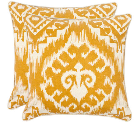 "Safavieh Set of 2 18"" x 18"" Amiri Pillows"