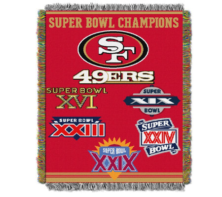 "NFL Commemorative Woven Tapestry 48"" x 60"""