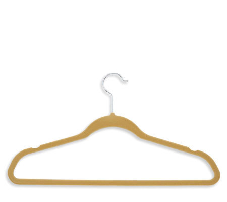 Honey-Can-Do 20-pk Velvet Touch Suit/Dress Hangers - Camel/Tan