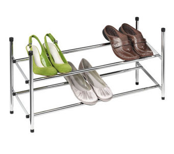 Honey-Can-Do 2-Tier Expandable Chrome Shoe Rack - H356998