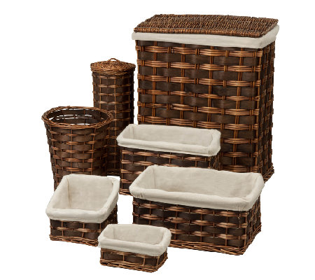 Honey-Can-Do 7-Piece Wicker Hamper Kit