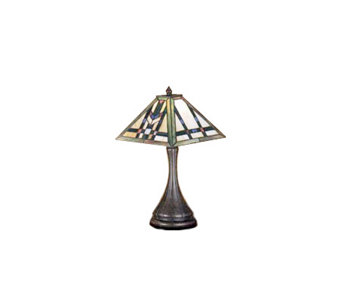 "Tiffany Style 17""H Mission Lamp - H108599"