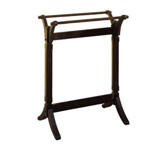 Contemporary Merlot Solid Wood Quilt Rack - H140099