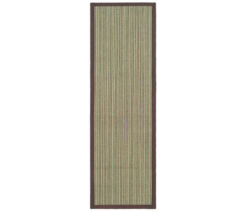 "Serenity Stripe Natural Fiber Sisal 2'6"" x 8' Rug with Border - H176499"
