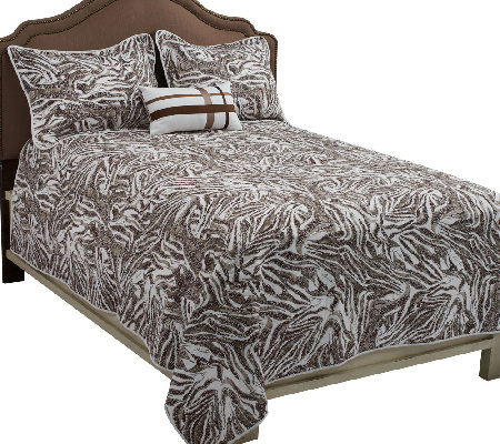 Dennis Basso Dotted Zebra King 4-Piece Coverlet Set