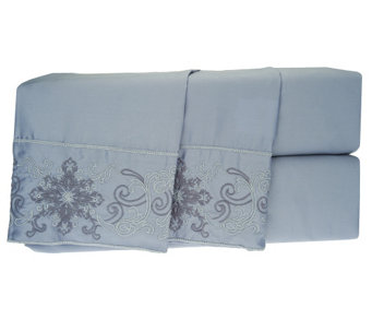 Northern Nights 500TC Embroidered Medallion Sheet Set - H202699