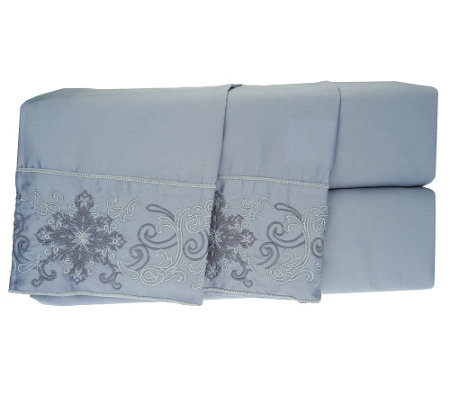 Northern Nights 500TC Embroidered Medallion Sheet Set