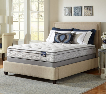 "Serta 11"" Dynamism EuroTop Plush Twin Mattress Set — QVC"