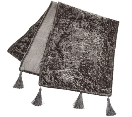 "Dennis Basso 72"" Posh Holiday Velvet Table Runner"