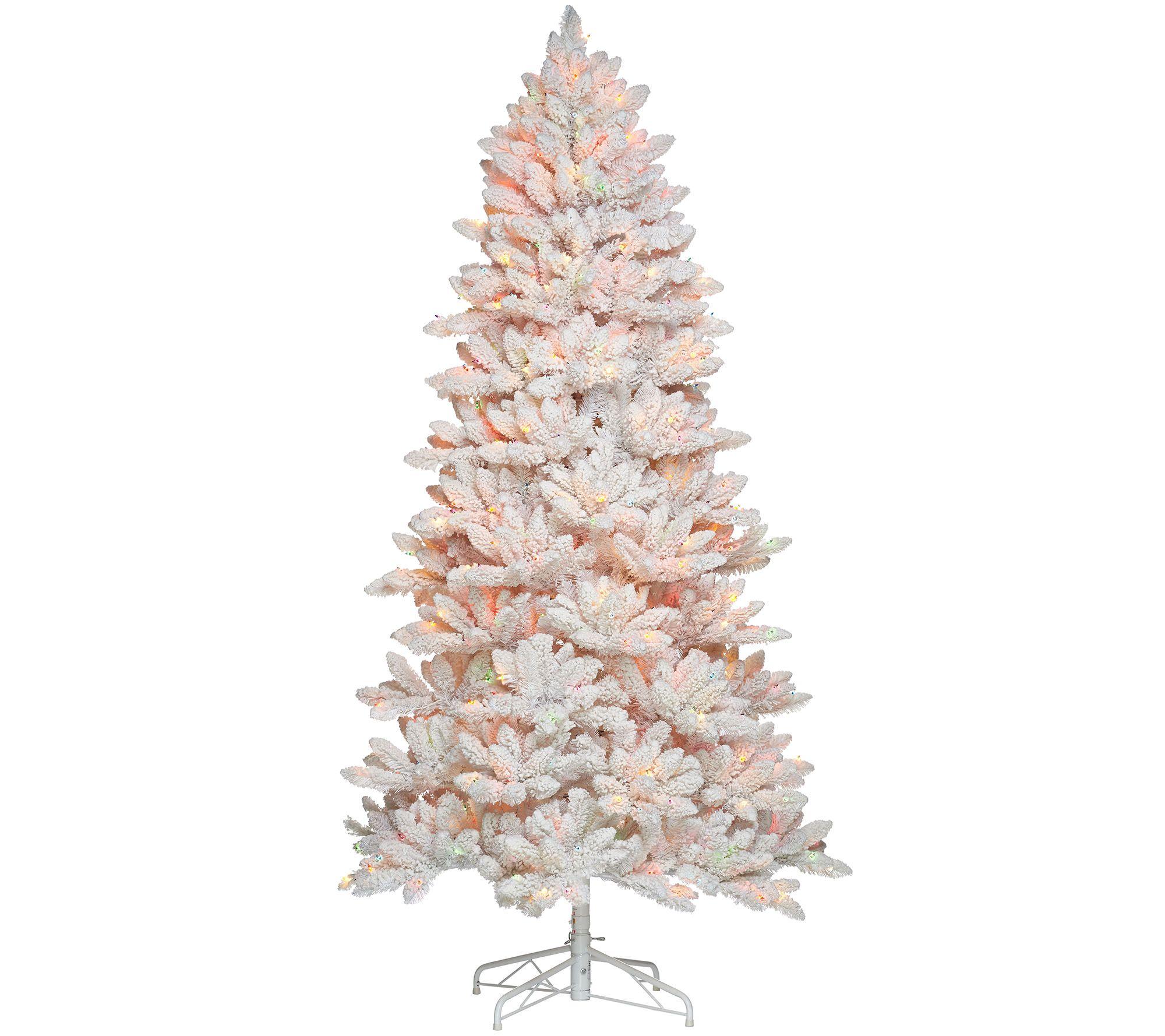 Bethlehem Lights 7.5' Hudson Flocked Christmas Tree - Page 1 — QVC.com