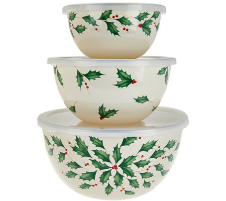 Lenox 3pc Holiday Mixing Bowl Set