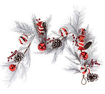 Frosted 4' Peppermint Candies and Ornament Garland - H209599