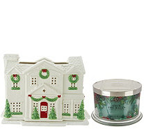 HomeWorx by Harry Slatkin Gingerbread Country House w/3 Wick Candle - H211399