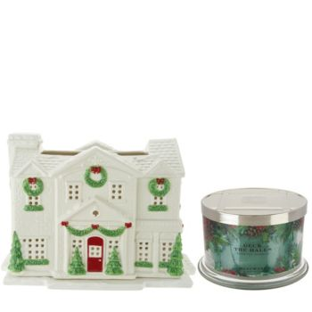 HomeWorx by Harry Slatkin Gingerbread Country House w/3 Wick Candle