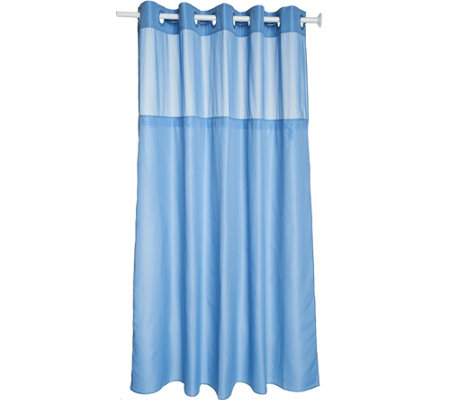 Hookless Swiss Dots Jacquard Shower Curtain