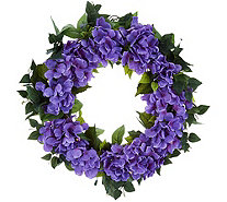 "Bethlehem Lights Indoor/Outdoor 24"" Hydrangea Wreath - H214599"