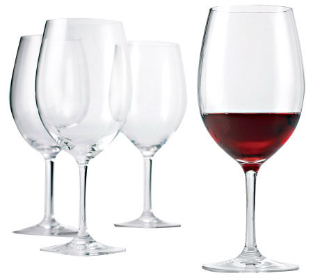 Wine Enthusiast Break-Resistant Cabernet Glasses Set of 4