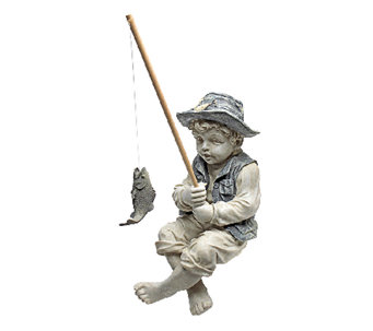 Design Toscano Frederic the Little Fisherman Garden Statue - H282699