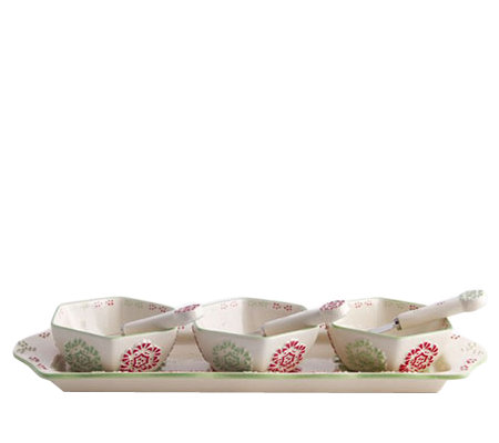 Temp-tations Winter Garden Appetizer Set w/ 3 Cheese Spreader