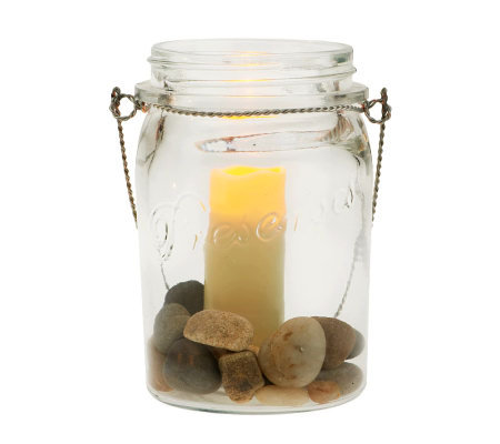 Home Reflections Mason Jar Flameless Votive Candle Holder