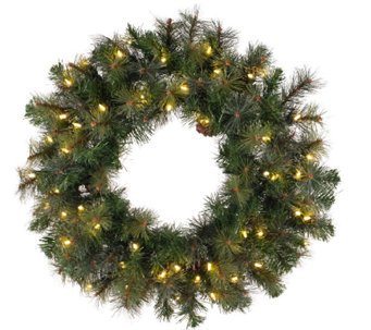 "48"" Prelit Modesto Pine Wreath w/ LED Lights byVickerman - H287699"