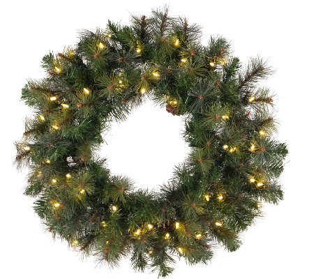 "48"" Prelit Modesto Pine Wreath w/ LED Lights byVickerman"
