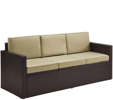 Palm Harbor Outdoor Wicker Sofa