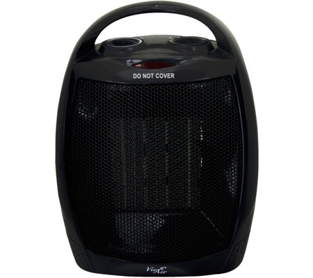 Vie Air 1500W Portable 2-Settings Black CeramicHeater