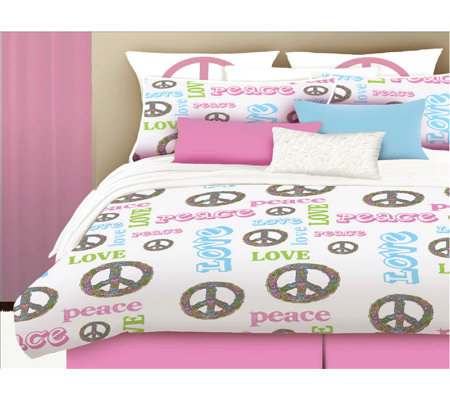Veratex Peace and Love Full Comforter Set