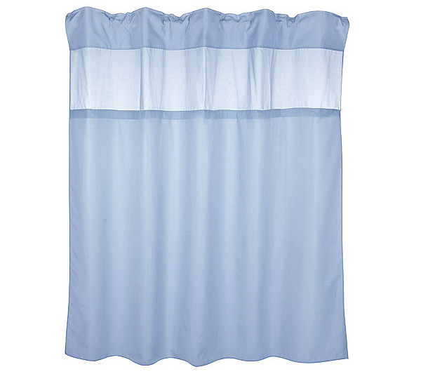 Hookless Hidden Ring Fabric Shower Curtain w/2 Vinyl Liners - Page ...