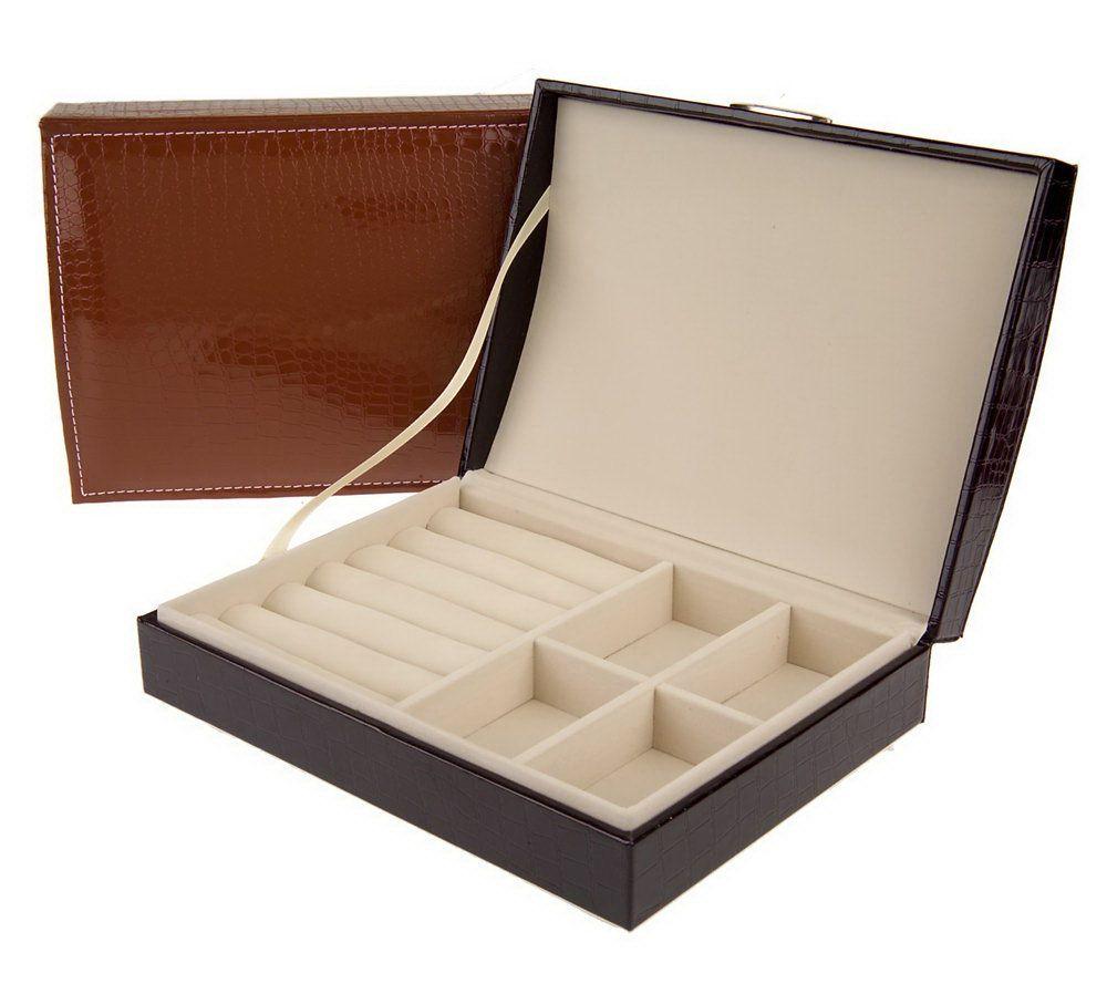 PreZerve Set of 2 Embossed Patent Jewelry Boxes w FlexZorb Page 1