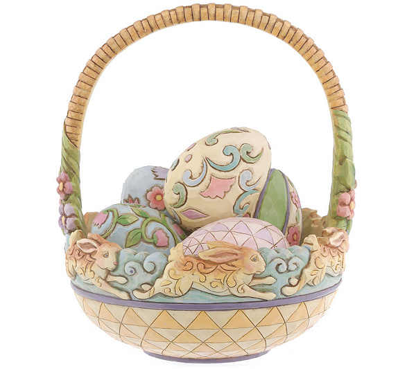 Jim shore heartwood creek spring hop easter basket with 5 eggs jim shore heartwood creek spring hop easter basket with 5 eggs page 1 qvc negle Choice Image