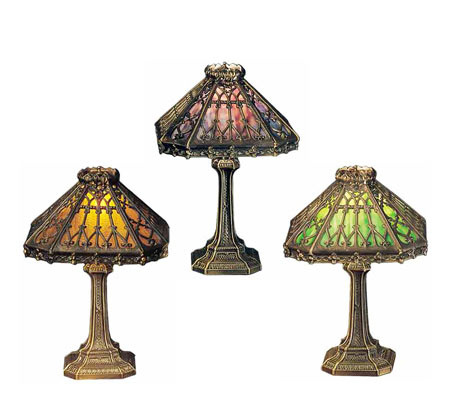 Meyda tiffany styled 19h gothic table lamp qvc com