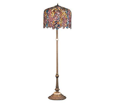 Meyda tiffany style reproduction wisteria floor lamp qvc com