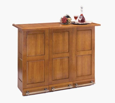 Home Styles Portable Bar Oak Finish U2014 QVC.com