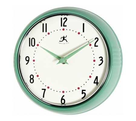 Retro Kitchen Wall Clock   Page 1 U2014 QVC.com