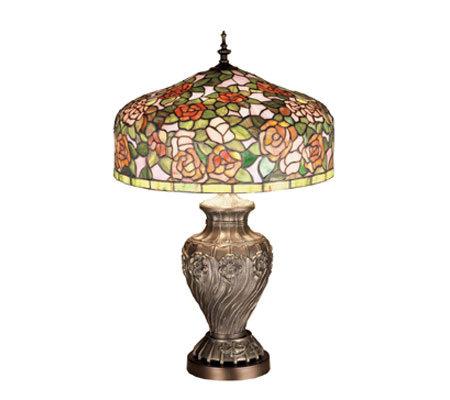 Meyda tiffany style 24 1 2 tiffany rose gardentable lamp qvc com