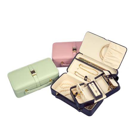 Mele Faux Leather Travel Jewelry Case with Swing Out Interior QVCcom