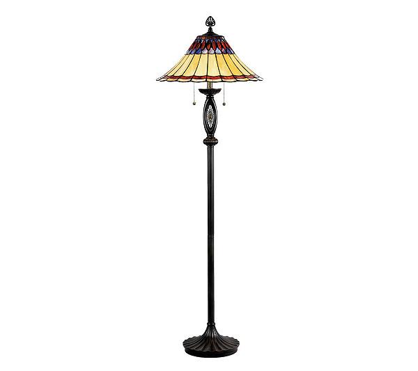 Tiffany style cameron floor lamp qvc com