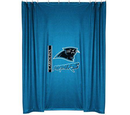 Good NFL Carolina Panthers Shower Curtain U2014 QVC.com